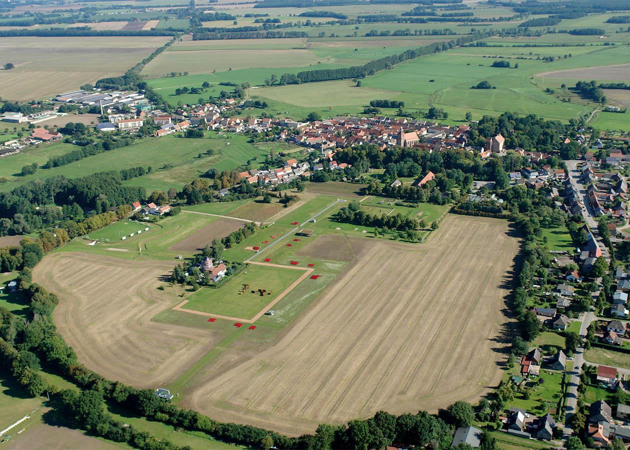 Luftbild der Stadtwüstung Freyenstein, 2015