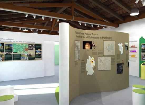 Rohrweberei Pritzerbe - Entwurf für die Dauerausstellung